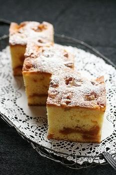 キャラメルりんごケーキ