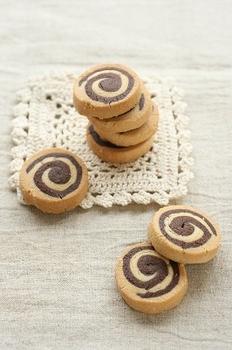 上新粉のぐるぐるクッキー
